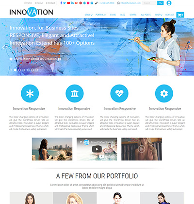 Extended, Premium WordPress Theme Gallery | D5 Creation