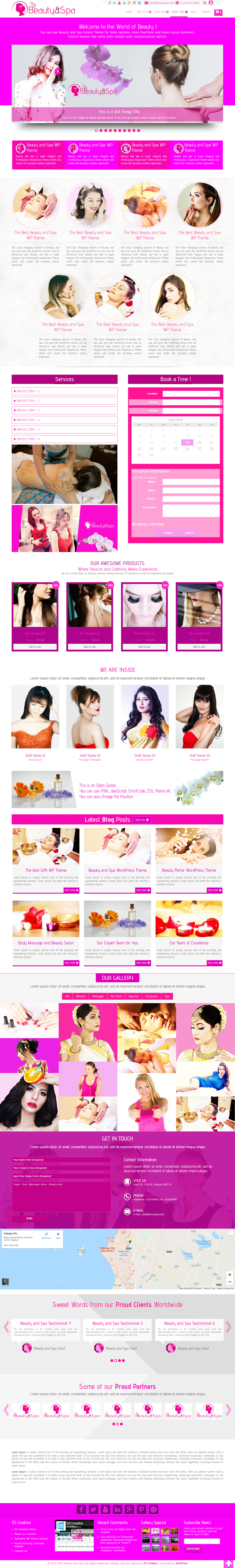 The best One Page Beauty and Spa WordPress Theme
