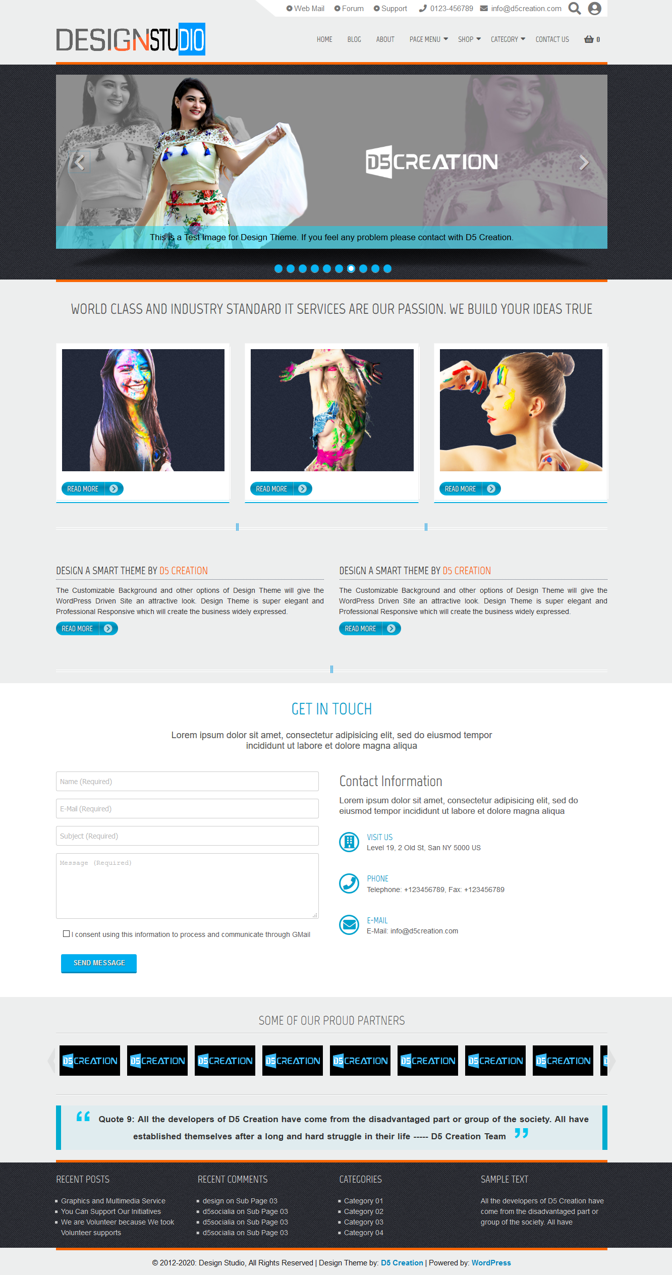 Design Responsive WordPress Theme