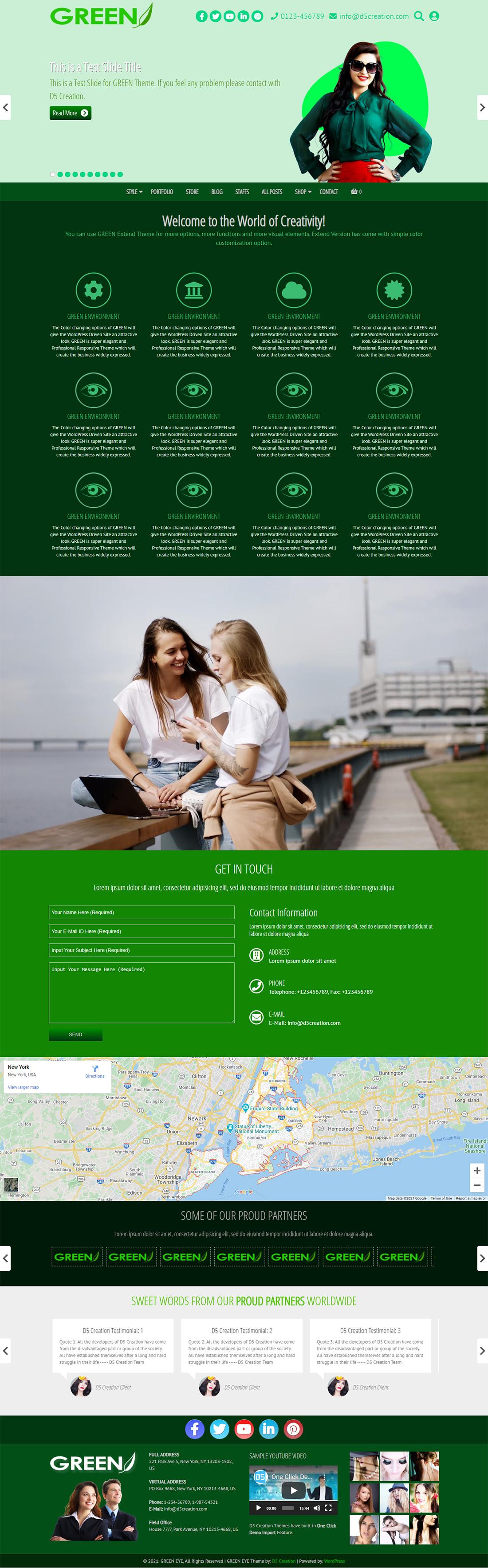 the best Green WordPress Templates