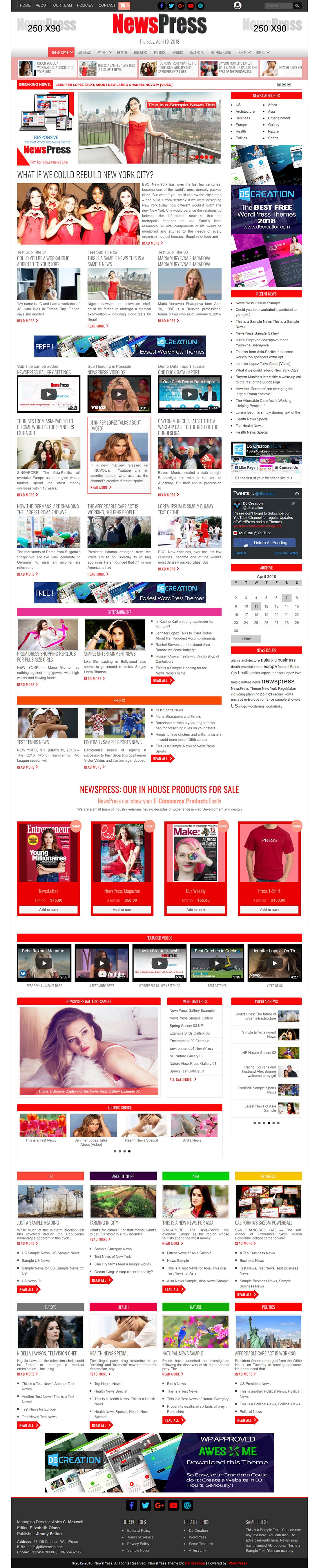 NewsPress, WordPress News Theme