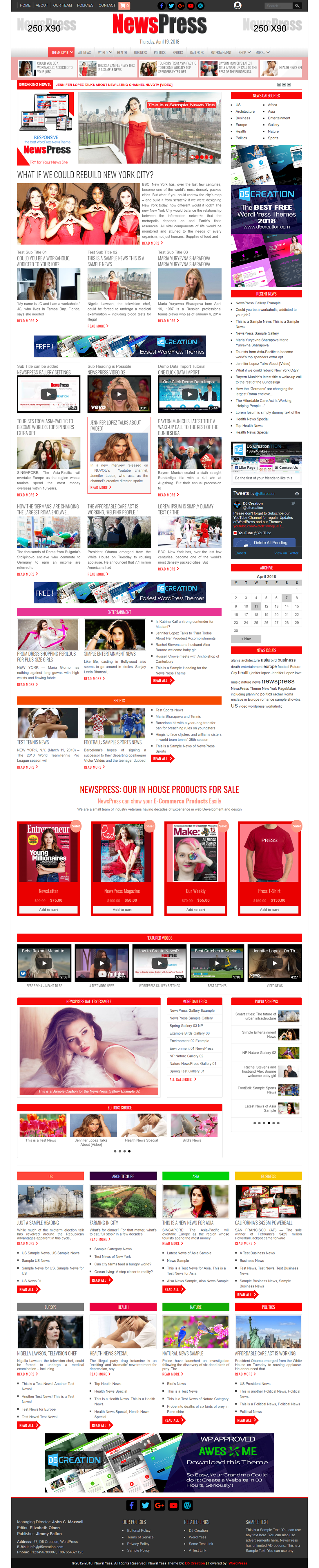 NewsPress, WordPress News Theme