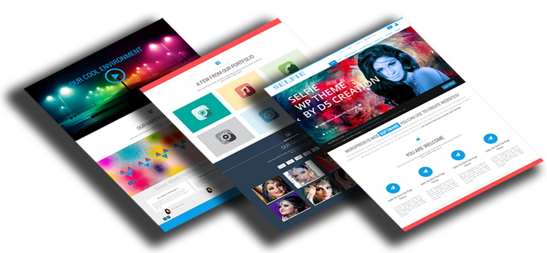 Selfie, best One Page WordPress Theme
