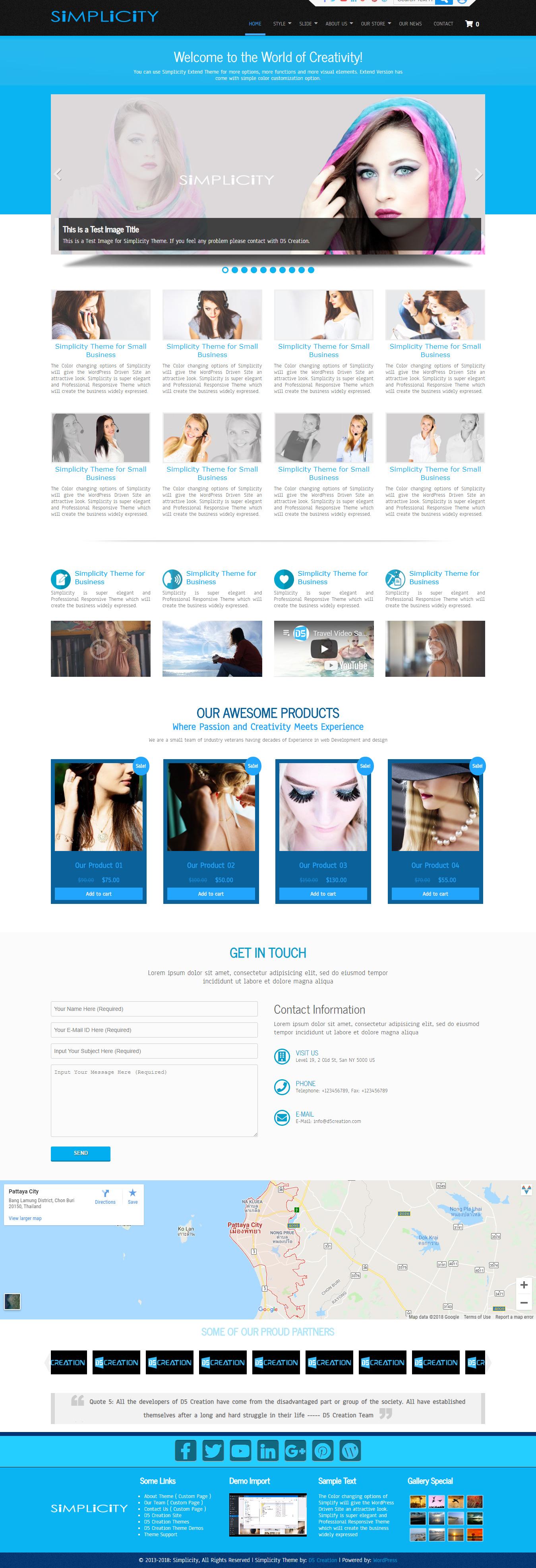 Simplicity, Powerful but Simple WordPress Theme