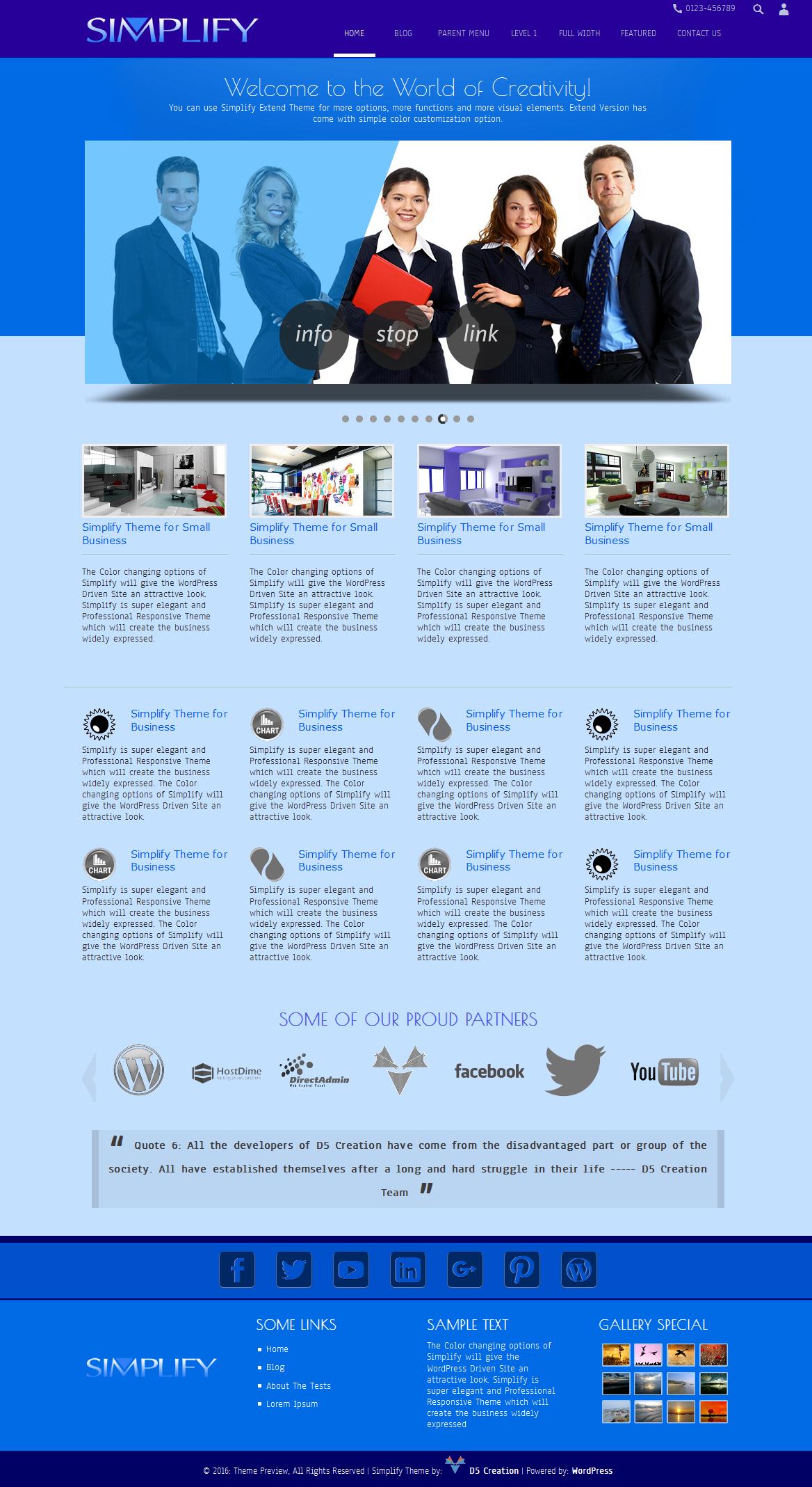 Simplify WordPress Theme