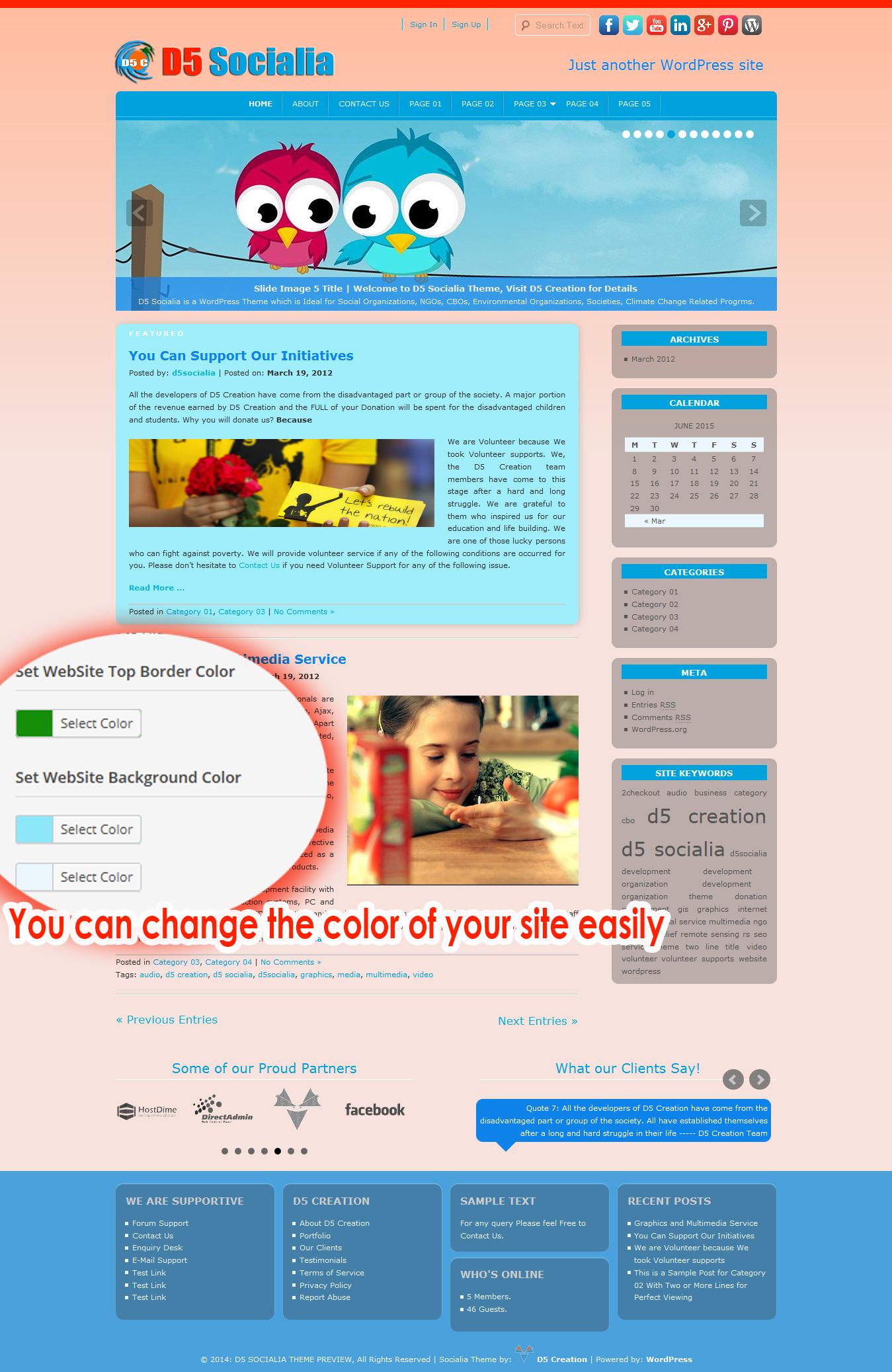 WordPress Theme for Organizations