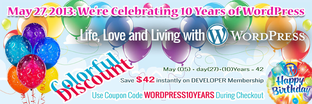 Amazing Discount for 10 Years of WordPress