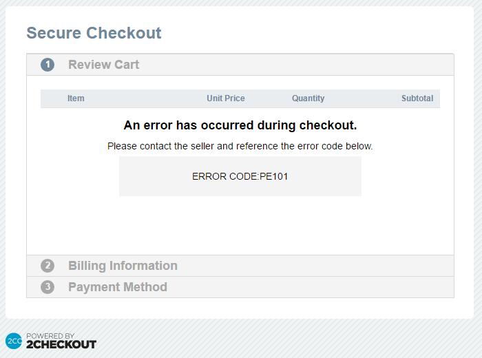 ERROR Payment