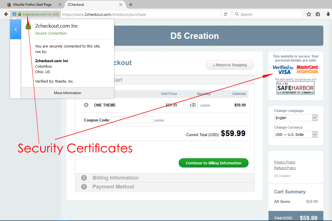 D5 Creation Secure Payment