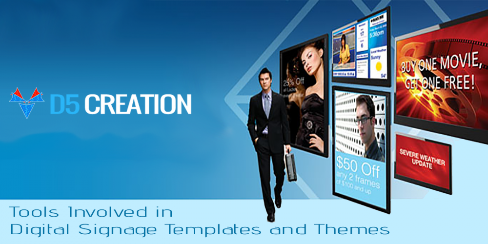 Tools Involved In Digital Signage Templates And Themes D Creation - Digital signage templates