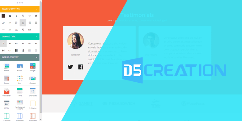 Page Builder D5 Creation