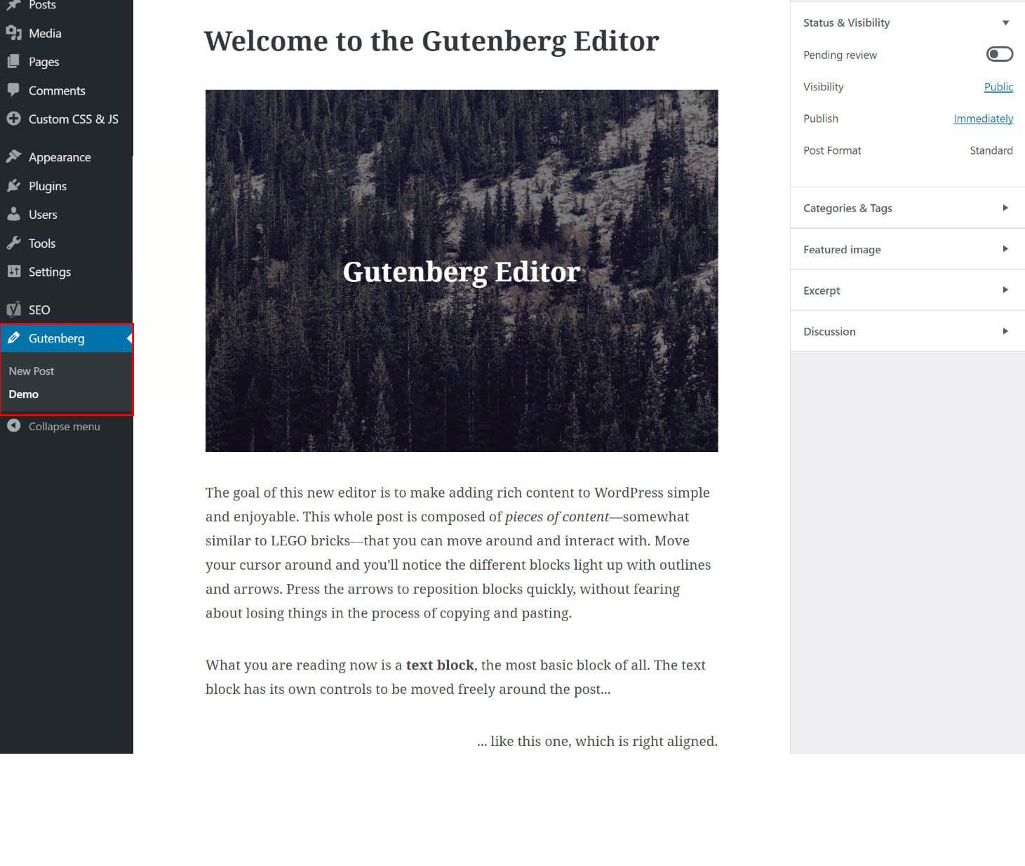 Gutenberg plug-in