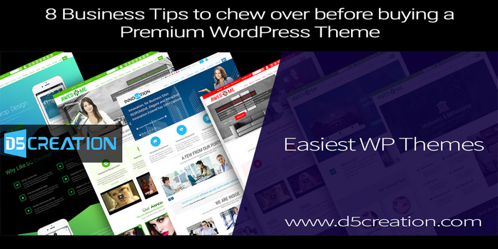 8 Business Tips to chew over before buying a Premium WordPress Theme