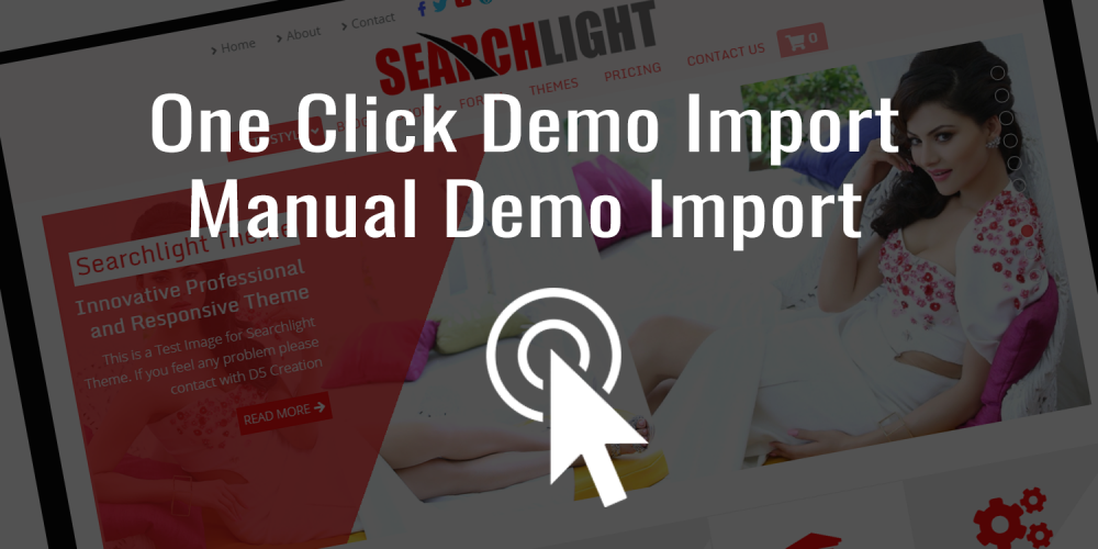 One Click Demo Import, Manual Demo Import