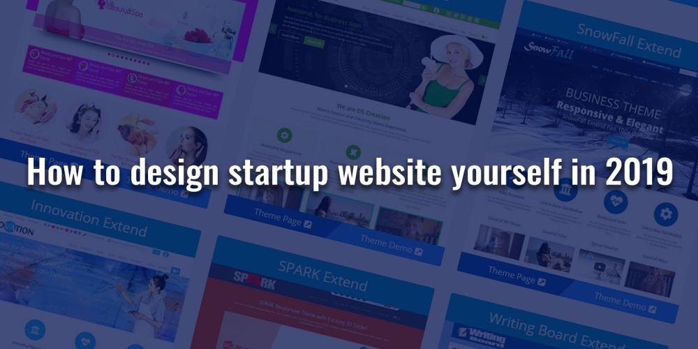 design startup website