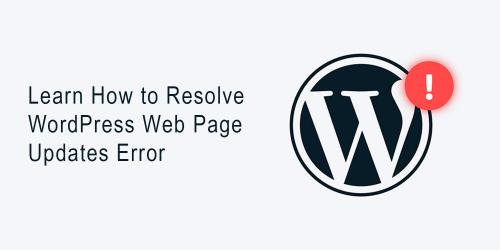 Resolve WordPress Updates Error