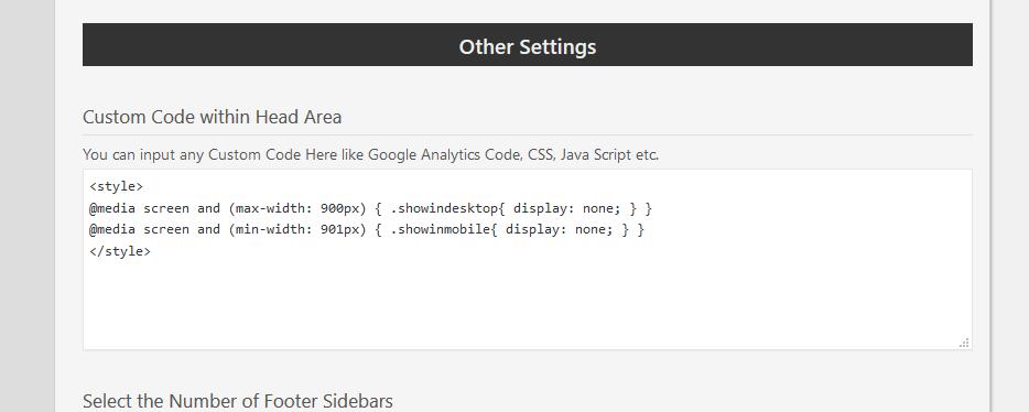 Custom Code CSS